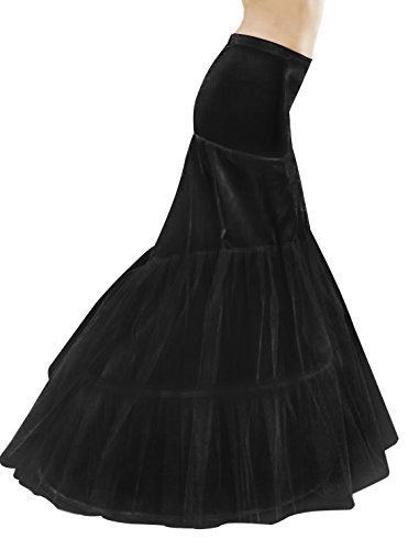 BEAUTELICATE Petticoat Reifrock Unterröcke Damen Meerjungfrau Fur Brautkleid Hochzeitskleid Vintage Crinoline Underskirt Schwarz Weiß.