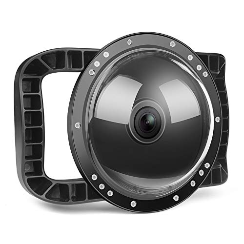 Hasde Dome Port 45M Waterproof Case Housing Diving mask for DJI OSMO Action Camera Dome Cover Lens Accessories Water Lens Hood, for DJI OSMO Action Camera Underwater Diving Photography
