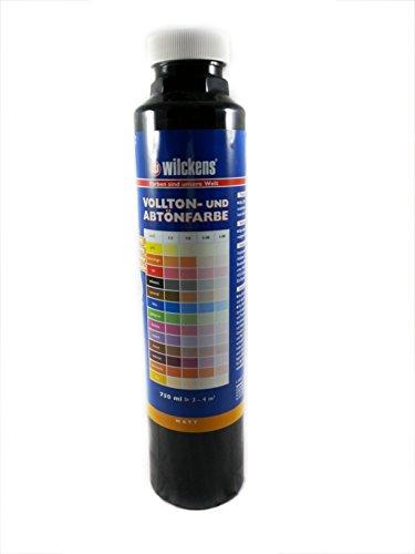 Qualitäts Abtoenfarbe - Volltonfarbe / 750 ml/matt - 14 Farben zur Auswahl (Schwarz)
