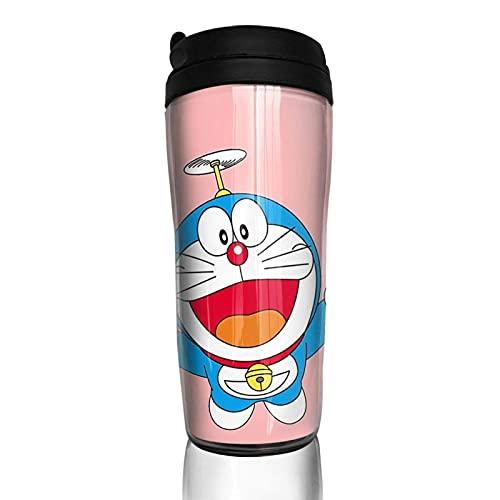 KINGAM Do-raemon - Taza de café con doble pared al vacío, con aislamiento portátil, 350 ml
