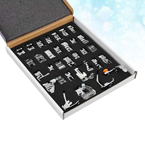 ULTNICE Juego de prensatelas para máquina de coser Babylock Elna, 32 unidades