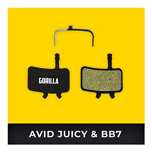 Avid Juicy Bremsbeläge 3 5 7 Carbon Ultimate & Avid BB7 für Fahrrad Scheibenbremse I Organisch I Hohe Bremsleistung I Langlebiger & Passgenauer Bremsbelag