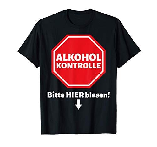 Herren Lustiges Bier Alkohol Schnaps Saufen Männer Party Spruch T-Shirt