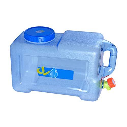SinceY 12 L Auto Portable Wasserträger, Wasser Kanister Mit Festablass Hahn/Wassertank PE Mit Griff, Wasserbehälter Camping Outdoor BBQ Lange Reise, Verdickte Version