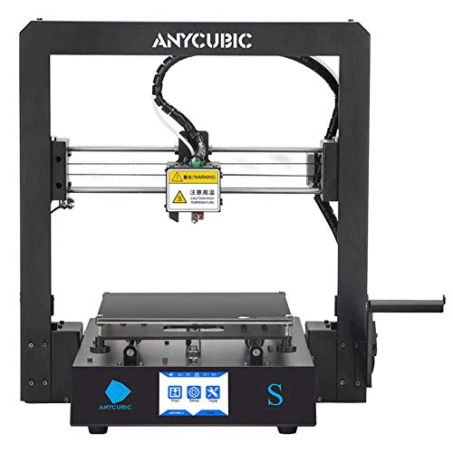 ANYCUBIC Mega S 3D Printer, UltraBase Heated Build Plate + Upgrade Extruder Support 1.75mm PLA Filament, 8.27''(L) x8.27''(W) x8.07''(H) Print Size