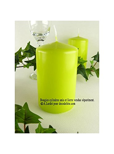 Wenzel 1 Bougie Cylindre 10 cm Vert anis