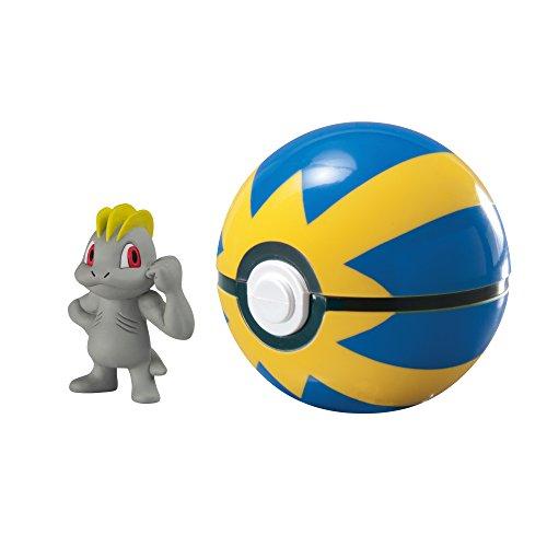PoKéMoN T19139 Pokemon T19139-Tomy Pokéball für Unterwegs mit Machollo Machop und Quickball,, 0