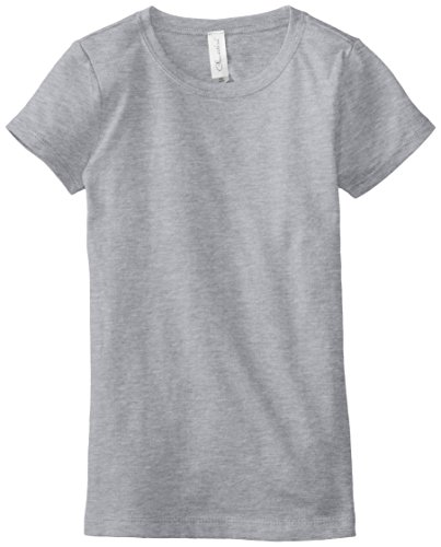 Clementine Big Girls' Everyday T-Shirt, Heather Grey, Large(10-12)