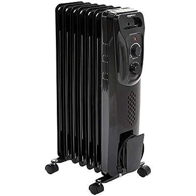 AmazonBasics Indoor Portable Radiator Heater - Black