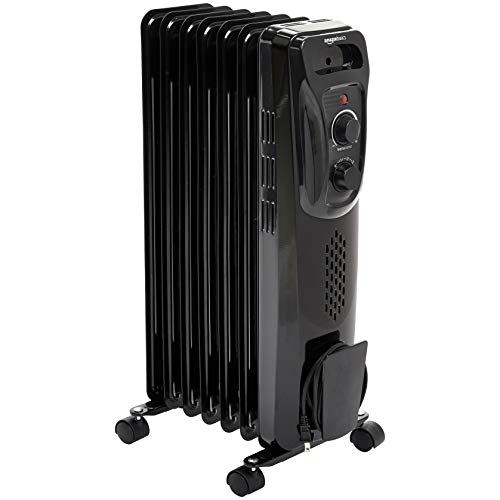 AmazonBasics Indoor Portable Radiator Heater - Black