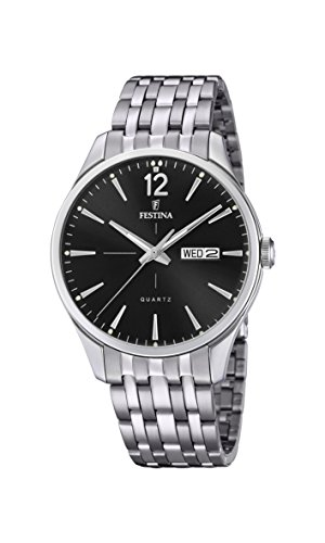 Festina Herren Analog Quarz Uhr mit Edelstahl Armband F20204/4