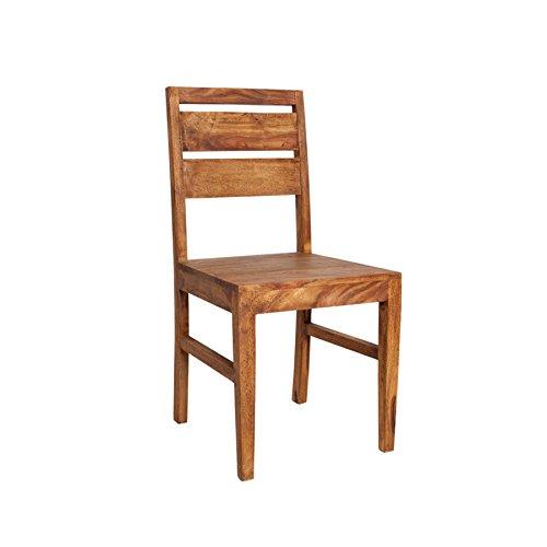 Invicta Interior Massiver Stuhl Pure Sheesham Holzstuhl Massivholz Esszimmer Stuhl aus Edelholz