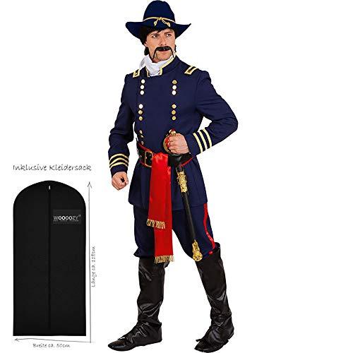 WOOOOZY Herren-Kostüm Nordstaaten General, Gr. 46-48 - inklusive praktischem Kleidersack