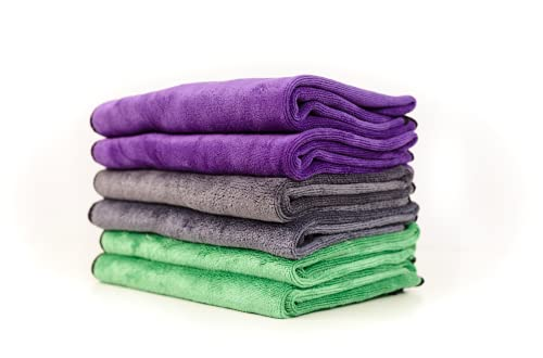 PAKS Premium Microfiber Towels - Detailer Grade Express Drying Towels , Scratch-Free , Lint-Free, Drying Towels for Cars, Windows, Dishes and More - 16' x 24' - Pack of 3