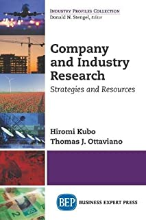 Company and Industry Research: Strategies and Resources