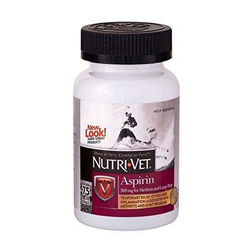 Nu2tri-vet K-9 Aspirin Chewables, 75 Count- 2 Pack