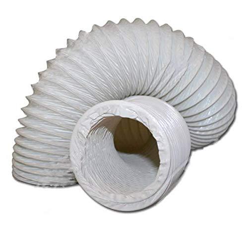 DL-pro Abluftschlauch Ø 100 / 102mm 2,5m flexibel PVC Schlauch für 100er Klimaanlage Wäschetrockner Dunstabzugshaube