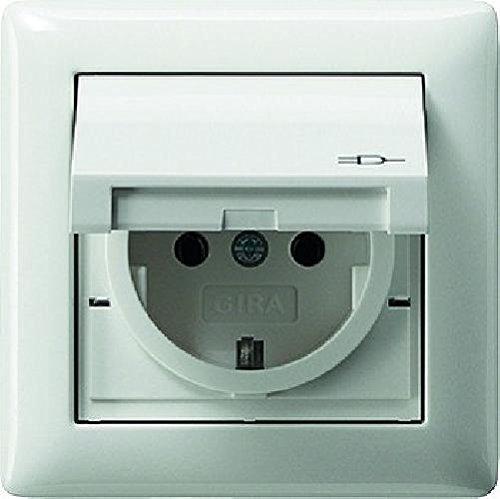 Gira Steckdose SCHUKO 115703 Rahmen 1fach IP44 Standard 55 rw, Weiß