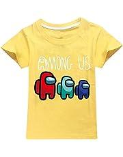 Among Us - Camiseta de manga corta con cuello redondo impreso en 3D, para niños