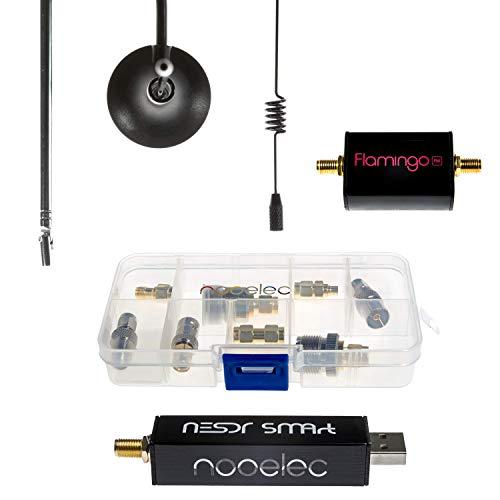 Starter Kit NESDR SMArt v4 RTL-SDR Essentials - Include Tutto per Iniziare con la Radio Definita dal Software tra cui SDR Premium, filtro Flamingo FM Bandstop, 3 Antenne, 10 Adattatori e Custodia