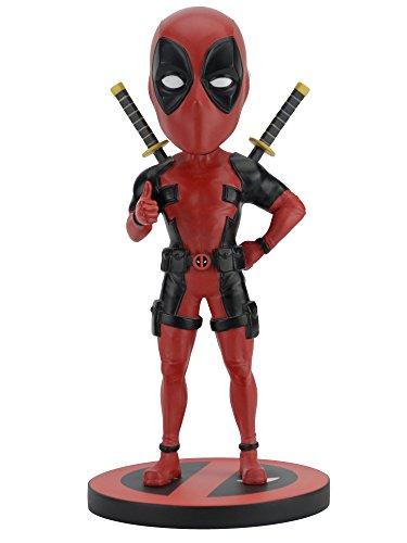 Deadpool - Figura Estatua Colección Bobble Head Knocker- Marvel Comics NECA