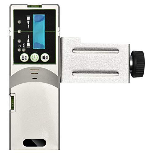 Detector láser para nivel láser de línea - Receptor láser para uso con láseres de línea verde pulsante, temporizador de apagado automático, abrazadera incluida