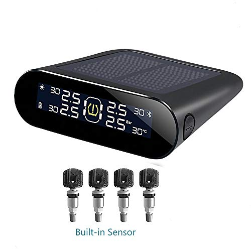 Smart Car TPMS Tire Pressure Monitoring System, Sonnenenergie-Digital-LCD-Display, Wasserdicht Externer Sensor, Universal Auto-Sicherheits-Warnungssysteme