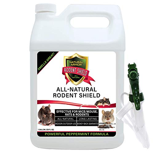Natural Armor Peppermint Repellent for Mice/Mouse, Rats & Rodents. Natural Spray for Indoor & Outdoor Use Rodent Shield. 128 OZ Gallon