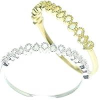 [京都ジュエリー工房] 結婚指輪 マリッジリング ミル打ち リング 15-0203 K10 ホワイトゴールド 14号