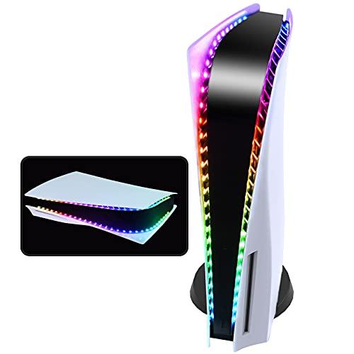 Luz LED para PS5, tira de luz RGB DIY decoración para consola PS5 con 5050 luces LED tiras de luces flexibles para consola PS5 con control remoto IR