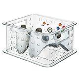mDesign CD Aufbewahrungsbox für CDs, DVDs, Blu-Rays, PS4 und Xbox One Spiele - kurz