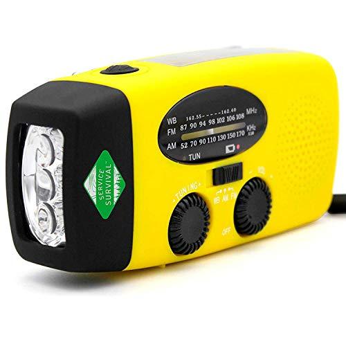 Service Survival Battery Powered Radio Charger - Wind Radio Emergency with USB Phone - NOAA Weather Radio - Radios Portable AM FM - Camping Gear- 1000mAh Shortwave Radio - Hand Crank Radio