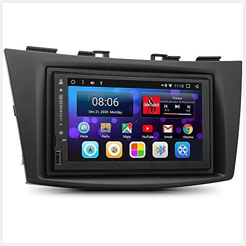 TUNEZ® MirrorLink Lecteur MP3 double DIN pour voiture compatible avec Suzuki Swift 3ème troisième Suzuki Swift FZ NZ année 2011 2012 2013 2014 2015 2016