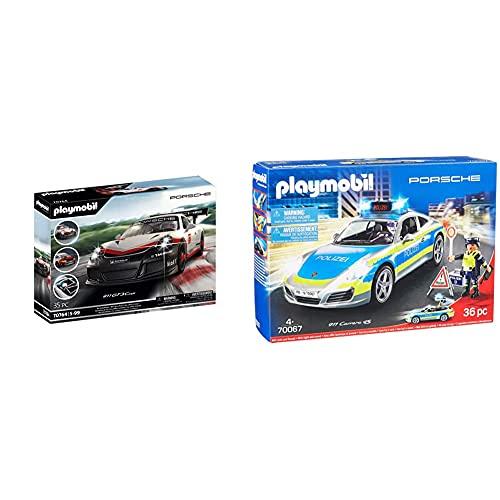 PLAYMOBIL Porsche 70764 Porsche 911 GT3 Cup, Mit Lichteffekten, Ab 5 Jahren & City Action 70067 Porsche 911 Carrera 4S Polizei, ab 4 Jahren