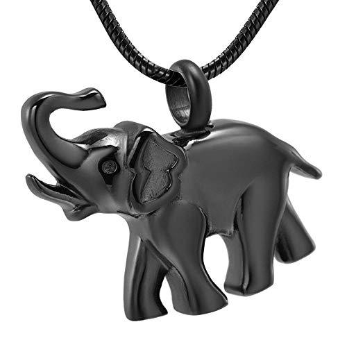 rmdfz Collar de Tarro de cremaciónJOYERÍA DE CREMACIÓN - Urna funeraria con Forma de Elefante Recuerdo Soporte para Cenizas de Mascotas Hombres Mujeres Collar Joyería Conmemorativa