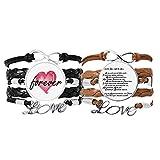 Bestchong Armband mit Poesie-Zitat Tiger Sniff The Rose Armband Handschlaufe Leder Seil Forever Love Armband Doppelset