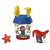 Mondo Toys Super Mario Bucket Set, Set Mare Renew Toys con Secchiello, Paletta, Rastrello, Setaccio, Formina, Annaffiatoio Inclusi, 28613