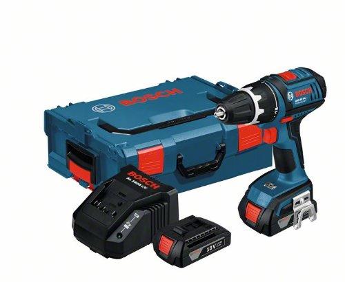 Bosch GSR 18 V-LI drill Sin llave Negro, Azul 1,6 kg -...