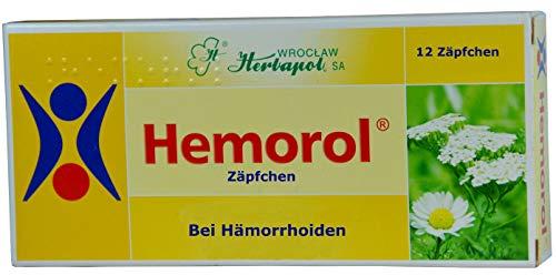 Für Hämorrhoiden, Zäpfchen, 12 Stück, 6 Kräuterextrakte, adstringierend (zusammenziehend), entzündungshemmend, schmerzlindernd, entkrampfend, beheben Schwellungen, Blutungen, salbe akut