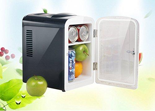 LDDLDG Mini Refrigerador Nevera Refrigerador para automóvil de 4.5L, Mini refrigerador, Doble frío y Caliente, Caja de calefacción de Ahorro de energía para Coche y Casa