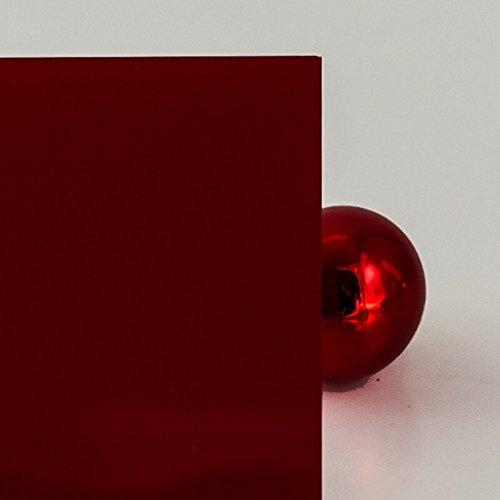 PLEXIGLAS® 3 mm dunkelrot 3H55 GT blickdicht - 6% Lichtdurchlässigkeit, edles rot - Maße: 25x25x0,3 cm