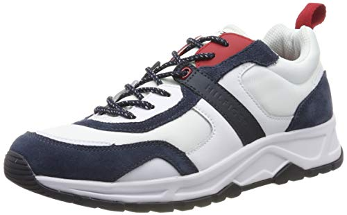 Tommy Hilfiger Fashion Mix Sneaker, Zapatillas para Hombre, White Ybs, 44 EU