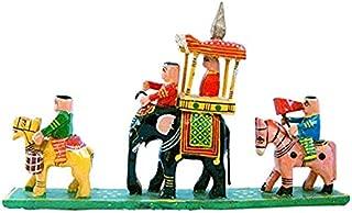 Fashion Bizz WoodenIndian Rajasthani Handicraft Royal Maharaja Emporer Procession (HCF204)