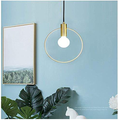 IJzeren hanger licht moderne restaurant ring kroonluchter nieuwe ijzeren karakter plafond verlichting van toepassing op slaapkamer Cafe nachtkastje fixture-goud