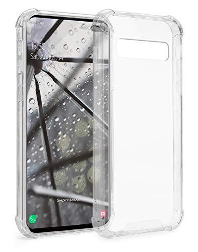 MyGadget Funda Protectora en Silicona TPU para Samsung Galaxy S10 Plus - Case Resistente Antigolpes – Cover Dura y Protective - Cómoda y Ligera Transparente