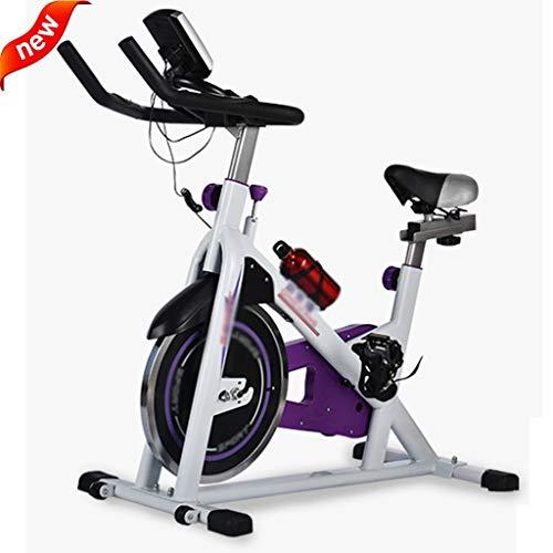 Fitnessbikes Indoorcycling Bikes Indoor Cycling Bike Office Aufrechtes Heimtrainer Gym Silent Belt Drive Mit Herzfrequenz, LCD-Monitor, Aerobic Training Fitness Bike
