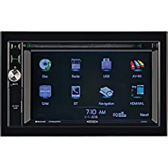 "6.2"" High-gloss touchscreen, Multi-color RGB LED backlit controls that can be user customized DVD/CD/MP3/WMA playback, Built-in navigation iGo Primo NextGen GPS navigation and mapping Built-in Bluetooth with external microphone (A2DP/AVRCP/HFP/PBAP) ..."