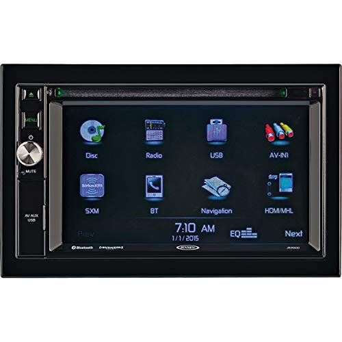 Jensen JRV9000R Touchscreen Multimedia Navigation System, Electronic AM/FM Tuner with RBDS, DVD/CD/MP3/WMA Playback, Built-in Bluetooth with External Microphone, Built-in GPS navigation and Mapping