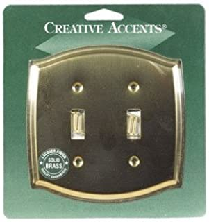 Jackson Deerfield 1202pb Toggle Stamped Solid Brass Classic Wallplate 2 Gang Switch And Outlet Plates