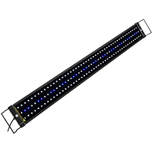 NICREW ClassicLED Aquarium Light, Fish Tank Light with Extendable Brackets, White and Blue LEDs, Size 36 to 48 Inches, 25 Watts